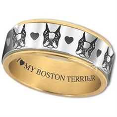 I ♥ My Boston Terrier' Spinner Ring - The Danbury Mint