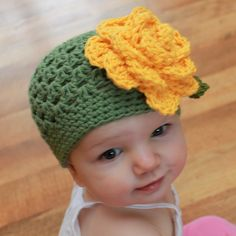 Crochet Hat Pattern - Jack and Jill (Striped or Lace) Cotton Beanie (All Sizes). $5.50, via Etsy.