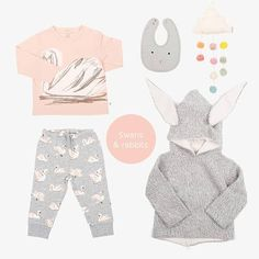 Swans and Rabbits Baby Online, Swans, Kind Mode, Rabbits, Kids Fashion, Room Decor, Shopping, Clothes, Outfits
