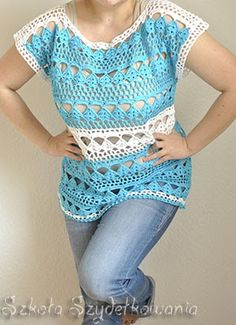 Crochet top, pattern on the link. I don't usually like crochet tops but I love this one!