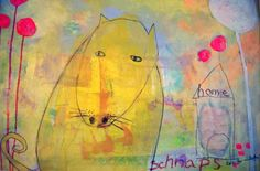 Art for Children Whimsical Dog Mixed Media by BreadandCircuses, £40.00