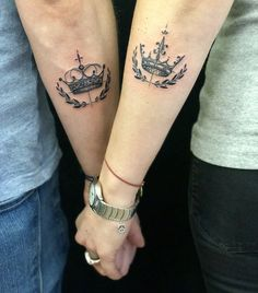 17 Couple Tattoos That Prove True Love Is Permanent - Page 9 of 17 - - Tattoo Ideen - Couple Simple Couples Tattoos, Couple Tattoos Love, Couples Tattoo Designs, Trendy Tattoos, Mini Tattoos, Small Tattoos, Tattoos For Women, Simple Tattoos For Guys, Paar Tattoos