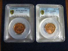 10円青銅貨昭和61年前期、後期セット、 前期が67RD(画像向かって左),後期64RD(画像向かって右)、2016/06/23 不落、開始時の価格: 90,000 円