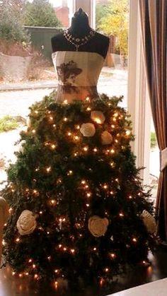 decorative Christmas dress form