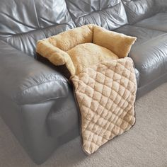 Small Quilted Brown Fleece Fold Out Pet Bed Cat/Dog Sofa/Couch/Chair Protector | eBay