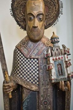 Saint Nick, Perm Gallery, wooden sculpture.