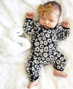 Newborn Kids Baby Girls Bandage Sling Romper Jumpsuit Floral Solid Outfits Clothes One-piece Summer Pure Whiteness Bodysuits & One-pieces Rompers