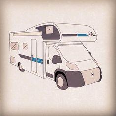 Cartoon motorhome Motorhome, Caravan, Snoopy, Camping, Holiday, Fun, Fictional Characters, Campsite, Vacations