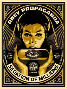 """This is a pretty cool new art print by Shepard Fairey, definitely reminds me of his older work. """"Sedation Pill"""""""