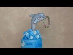 Fondant Dolphin Cake Topper - Delfino in pasta di zucchero per torta - YouTube