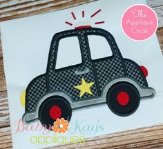 Here is a fun design for any little police boy or girl.