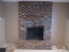 Common older fireplace, transformed into the modern era