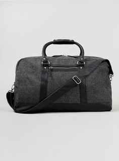 Neppy and Leather Look Holdall - Bags  - Shoes and Accessories
