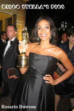 Actress, Rosario Dawson. — at NCLR Alma Awards 9-27-13- Copyright: Disco Stella's Pics.