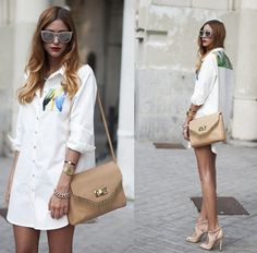 Designed By Myself Shirtdress, Zara Bag - FORGET ABOUT THE BOTTOM - Andrea Gomez