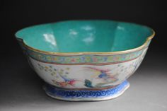 "FAMILLE ROSE PORCELAIN BOWL. Late Qing dynasty famille rose bowl, hand painted with gold fish pattern. Comes with ""Da Qing Tongzhi Year Made"" mark. H: 8cm. Dia: 21cm."