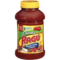 Ragu Tomato Garlic And Onion Chunky Gardenstyle Pasta Sauce, 45 oz