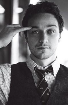 James McAvoy. Don't know why he's doing the pinky finger eyebrow thing, but he's still intensely attractive.