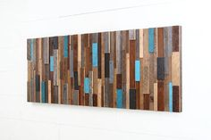 Wood wall art made of old reclaimed barnwood Large wall art