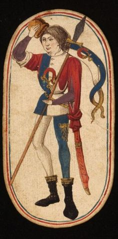 Knave (2), from the Cloisters set of fifty-two playing cards, ca. 1470–1485, South Netherlandish.