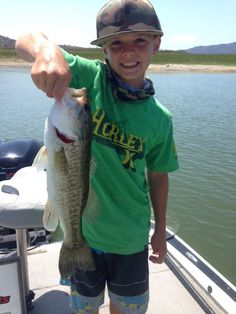 06/04/2015 and another quality bass caught by a young angler at Lake Casitas in Southern California. Fishing can be a family affair so if you and your family would like to spend a beautiful day at Lake Casitas fishing and enjoying the scenery, then you need to contact us.