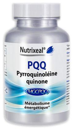 Sel disodique de pyrroquinoléine-quinone, associé à de la vitamine C de qualité Quali-C. Sans excipient. Fabrication française, laboratoire Nutrixeal.