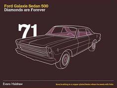 James Bond Cars - Ford Galaxie Sedan 500 - Diamonds are Forever