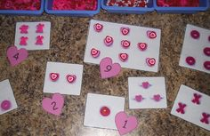 variety of valentine themed centers