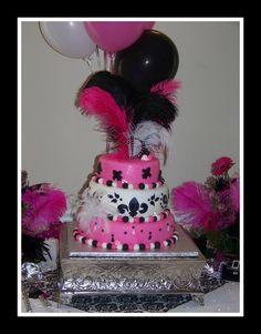 happy 40th birthday cake 2 tier fondant cake black purple