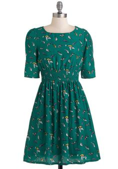{Life's a Finch dress} love the print + colour!