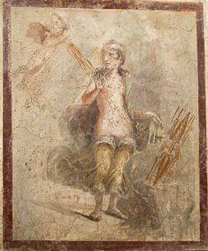 Даная и Амур. Помпеи, I век. Амур льет золотой дождь, который Даная собирает краем плаща. (Viacheslav Lopatin / IP)