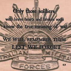 Anzac - lest we forget