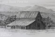 """""""The Old Horse Barn"""" Pencil"""
