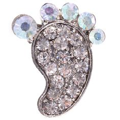 Diamante Design Foot Brooch (2.1cmx1.7cm) - Party Savvy