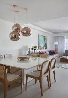 Sala de Jantar- mesa branca