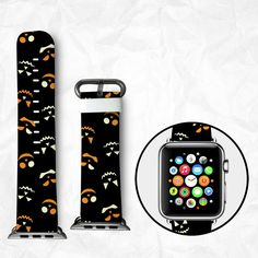 Happy Pumpkin Apple Watch Band Halloween Gift for Apple Watch Series 3 Apple Watch Series 2 Apple Watch Series 1 with 38mm 42mm Adapter