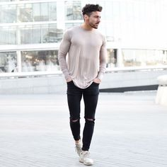 If you have a body like that you can wear a lot of things men street style brought to you by Tom Maslanka