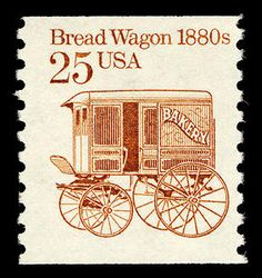 us postage stamp bread wagon 25 cents | Arago: 25-cent Bread Wagon