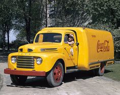 Vintage 1948 Ford F-1 Truck - Coca Cola Delivery Truck FOLLOW THIS BOARD FOR GREAT COKE OR ANY OF OUR OTHER COCA COLA BOARDS. WE HAVE A FEW SEPERATED BY THINGS LIKE CANS, BOTTLES, ADS. AND MORE...CHECK 'EM OUT!! Anthony Contorno Sr