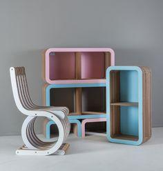 Twist Chair & Moretto System by Lessmore - design Giorgio Caporaso