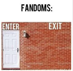 Fandoms entry and exit.