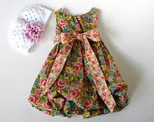 Baby Girl Toddler Bubble Dress Size 3 to 6 mos, 6 to 9 mos, 12 to 18 mos, 2T Made to Order