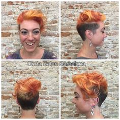 Color + corte + styling - Color + cut + styling by #OndaSalon director #PieroZattera.  #colordepelo #cortedepelo #cortedepelocorto #haircolor #hairchalk #haircut #shorthaircut #Barcelona #Barceloneta