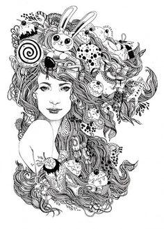 Doodle Coloring pages colouring adult detailed advanced printable Kleuren voor volwassenen coloriage pour adulte anti-stress kleurplaat voor volwassenen Line Art Black and White