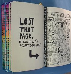 Wreck This journal Lose this page Wreak This Journal Pages, My Journal, Journal Covers, Bullet Journal Notebook, Bullet Journal Ideas Pages, Bullet Journal Inspiration, Wreck This Journal Everywhere, Create This Book, Creative Journal