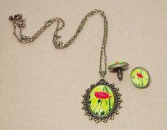 Schmuckset bronze – Poppyflower von Mausepelzchen kreativ auf DaWanda.com