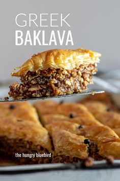 Classic baklava recipe, the traditional Greek pastry made with ground nuts, layers of phyllo and drizzled with honey-lemon syrup. food recipe Greek Baklava Recipe {Nuts, Phyllo, Honey Syrup} - the hungry bluebird Sicilian Recipes, Pastry Recipes, Cooking Recipes, Amish Recipes, Greek Desserts, Just Desserts, Greek Food Recipes, Lemon Syrup, Honey Lemon