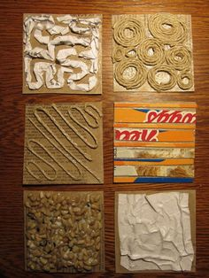 some collagraph material ideas