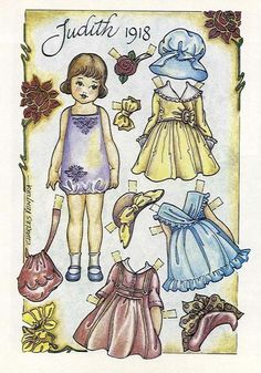 """Judith 1918*1500 free paper dolls at Arielle Gabriel""""s The International Paper Doll Society and free Chinese Japanese paper dolls at The China Adventures of Arielle Gabriel *"""