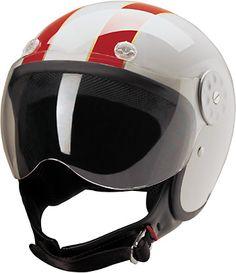 Red stripe #scooter #helmet